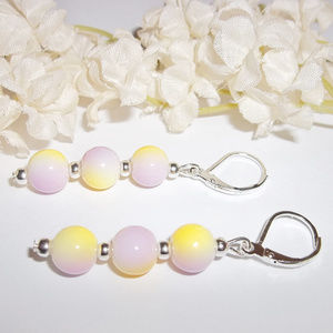 Ombre Long Beaded Earrings Set Jewelry Gift 4535